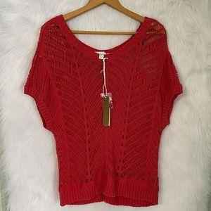 NWT Lauren Conrad LC Crochet Top